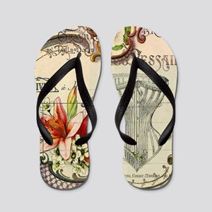 victorian lily vintage corset girly fas Flip Flops