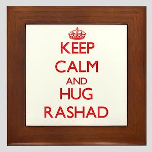 Keep Calm and HUG Rashad Framed Tile