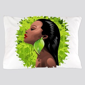 Woman African Beauty and Bamboo Pillow Case
