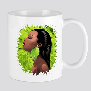 Woman African Beauty and Bamboo Mugs