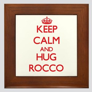 Keep Calm and HUG Rocco Framed Tile