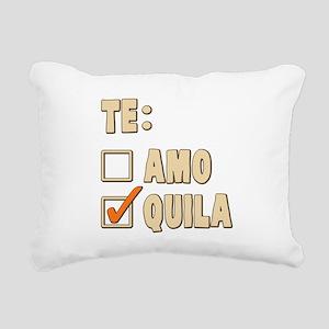 Te Amo Tequila Spanish Choice Rectangular Canvas P