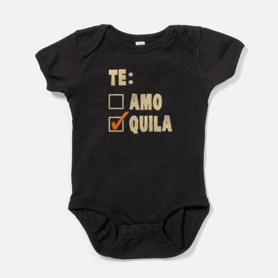 Te Amo Tequila Spanish Choice Baby Bodysuit