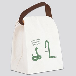 Candy Cane Snake Canvas Lunch Bag