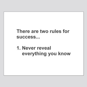 Two Rules For Success Revealed Posters