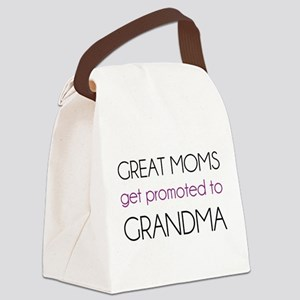 Great Moms Get Promoted To Grandma Canvas Lunch Ba