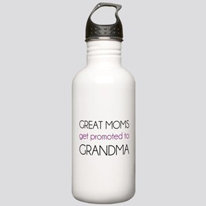 Great Moms Get Promoted To Grandma Water Bottle