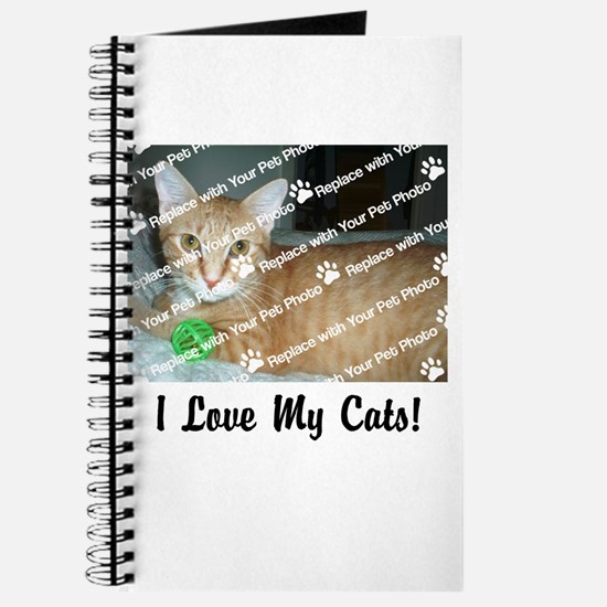 CUSTOMIZE Add Photo Love CatS Journal
