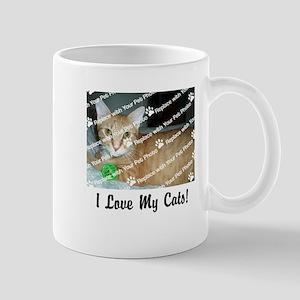 CUSTOMIZE Add Photo Love Cats Mugs - Right