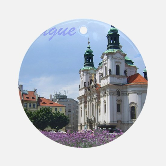 Prague souvenir Ornament (Round)