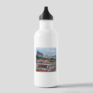 Prague city souvenir Sports Water Bottle