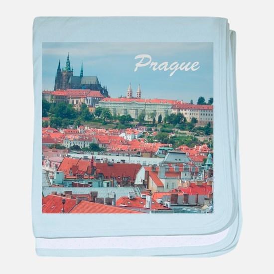 Prague city souvenir baby blanket