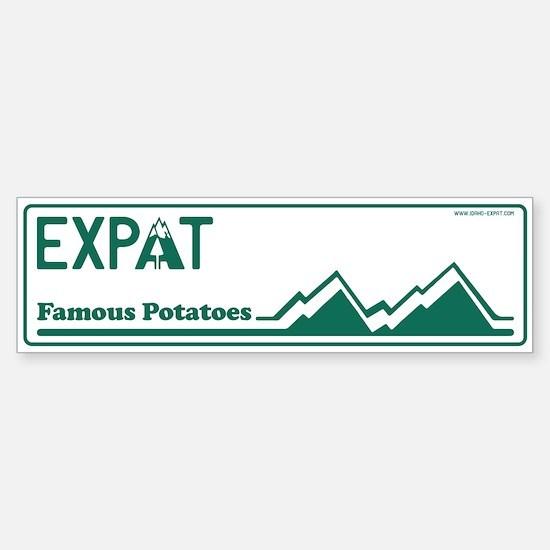 Idaho Expat - Plain Sticker (Bumper)