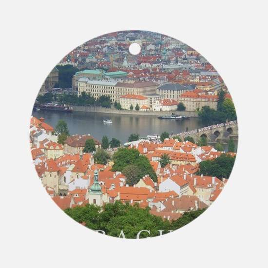 Prague Charles Bridge over Vltava river Ornament (