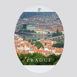 Prague Charles Bridge over Vltava river Ornament (