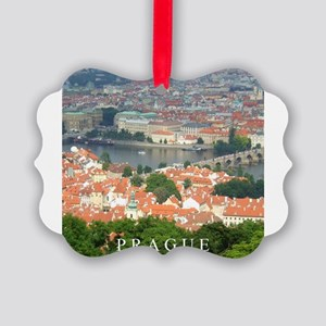 Prague Charles Bridge over Vltava river Picture Or