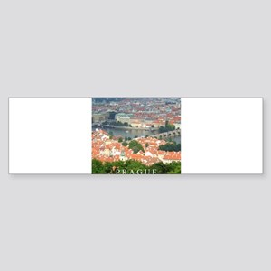 Prague Charles Bridge over Vltava river Bumper Sti