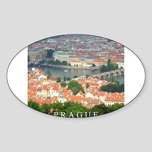 Prague Charles Bridge over Vltava river Sticker