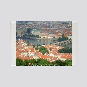 Prague Charles Bridge over Vltava river Magnets