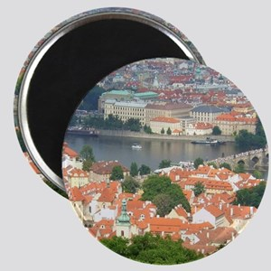 Prague Charles Bridge over Vltava river Magnets