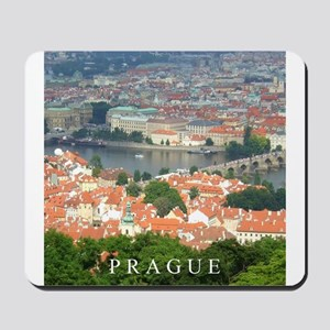 Prague Charles Bridge over Vltava river Mousepad