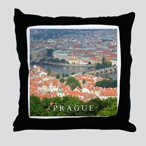 Prague Charles Bridge over Vltava river Throw Pill
