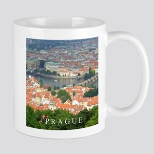 Prague Charles Bridge over Vltava river Mugs
