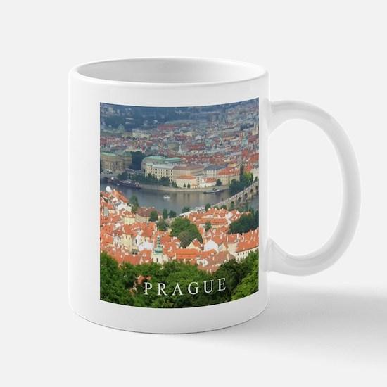 Prague Charles Bridge over Vltava river Mugs