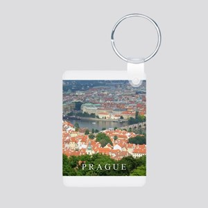 Prague Charles Bridge over Vltava river Keychains