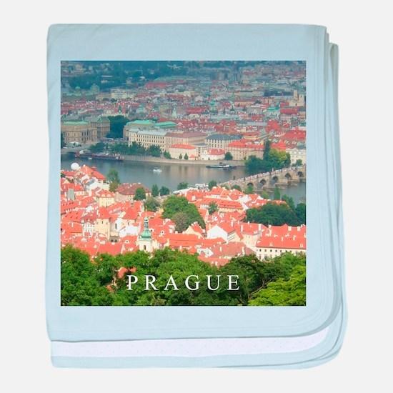 Prague Charles Bridge over Vltava river baby blank