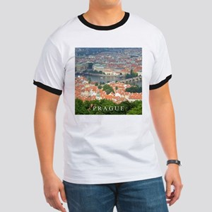 Prague Charles Bridge over Vltava river T-Shirt