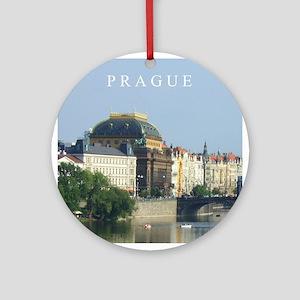 Prague State Opera House Ornament (Round)