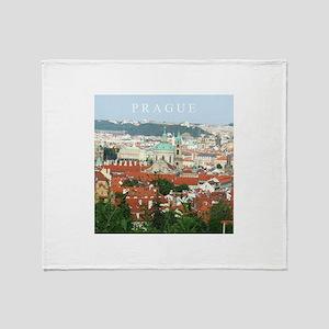 Prague Czech Republic souvenir Throw Blanket