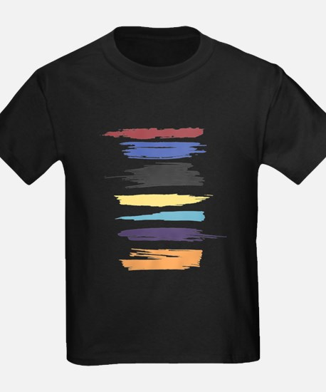 Paint Strokes Artistic Abstract Color Streaks T-Sh