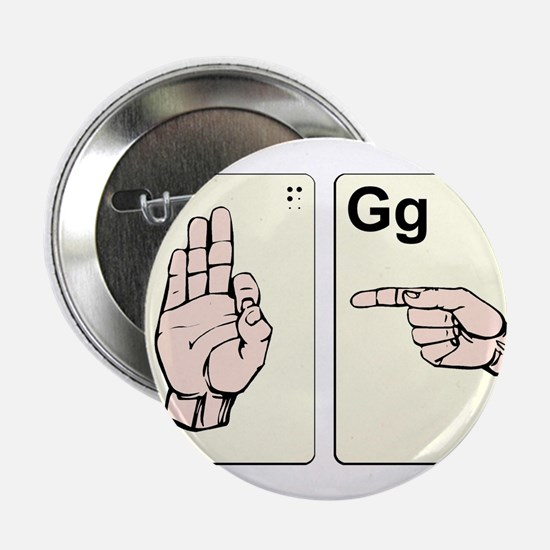 """Dirty Sign Language Flash Cards 2.25"""" Button"""