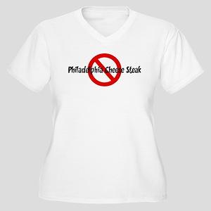 Anti Philadelphia Cheese Stea Women's Plus Size V-