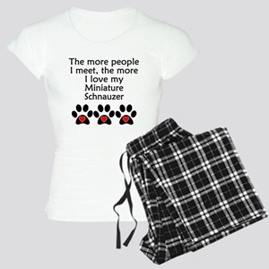 The More I Love My Miniature Schnauzer Pajamas
