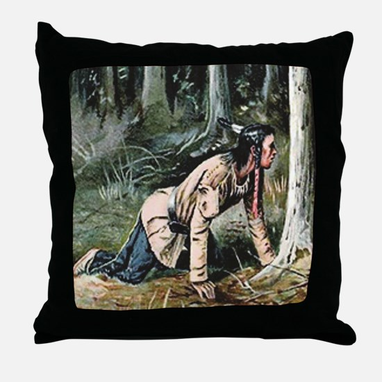 Unique Leather head Throw Pillow