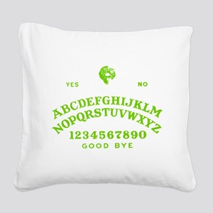 Talking Board Square Canvas Pillow