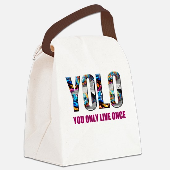 Yolo Canvas Lunch Bag