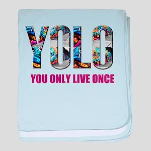 Yolo baby blanket
