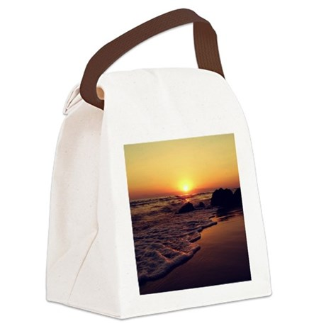 Sunset Canvas Lunch Bag