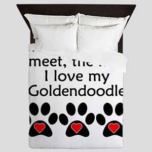 The More I Love My Goldendoodle Queen Duvet