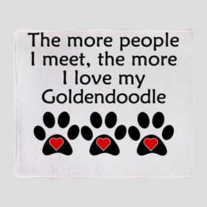 The More I Love My Goldendoodle Throw Blanket