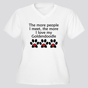 The More I Love My Goldendoodle Plus Size T-Shirt