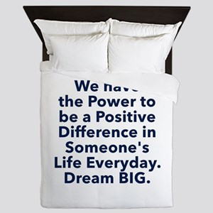 Positive Difference Queen Duvet