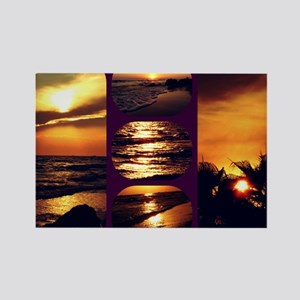 Sunset Collage Rectangle Magnet