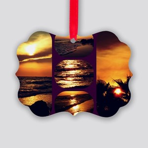 Sunset Collage Picture Ornament