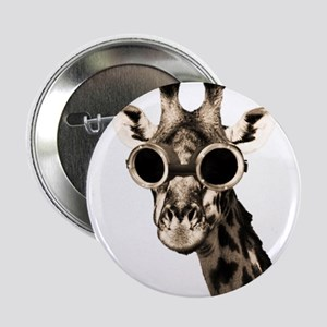 "Giraffe With Steampunk Sunglasses Goggles 2.25"" Bu"