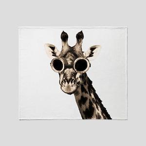 Giraffe With Steampunk Sunglasses Goggles Throw Bl